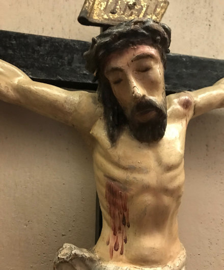 Crucified after restoration