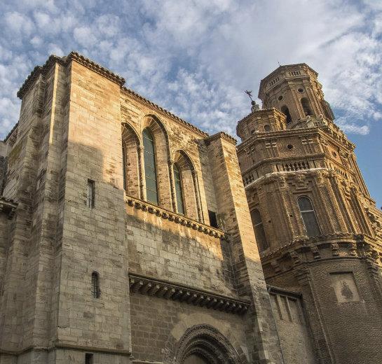 Vista exterior de la Catedral de Tudela