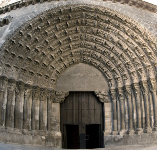Fotografía de la Puerta del juicio de la Catedral de Tudela