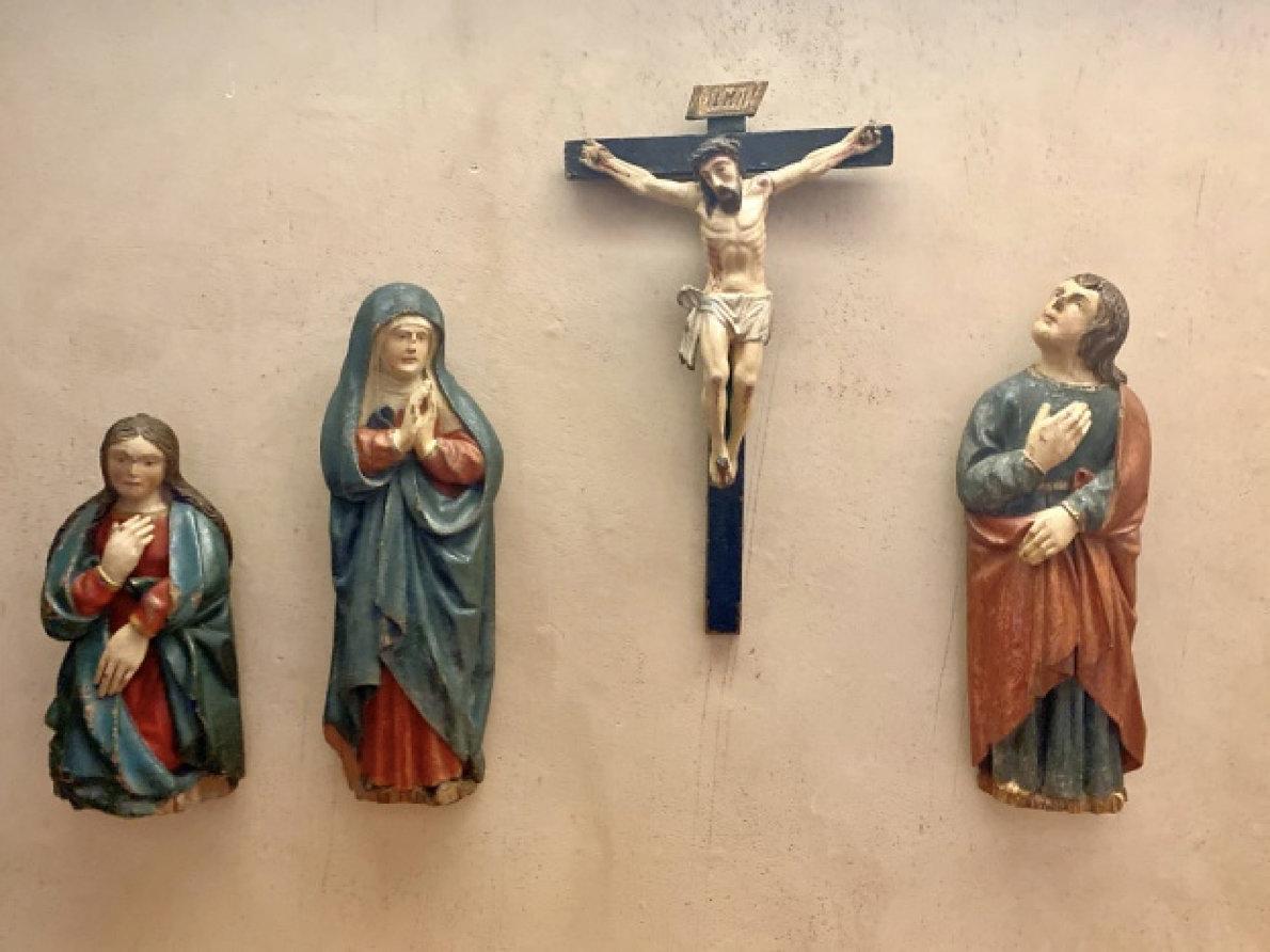 Restauración del conjunto escultórico del Calvario